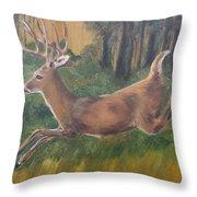 Running Buck Throw Pillow