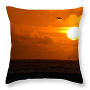 Running By Dusk Throw Pillow