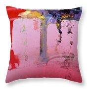 Running Colors Throw Pillow by Danielle Allard