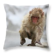 Running Fast Throw Pillow