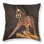 Running Foal Throw Pillow