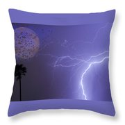 Running From The Storm Throw Pillow