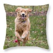 Running Happy Throw Pillow