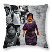 Running In Color Throw Pillow