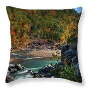 Running Into Autumn Throw Pillow