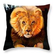 Running Lion Throw Pillow