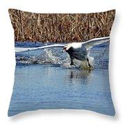 Running On Water Throw Pillow