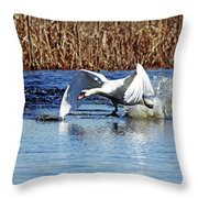Running On Water I Throw Pillow