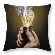 Running Out Of Ideas Throw Pillow