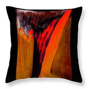 Running Red Throw Pillow