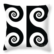Running Spirals Throw Pillow