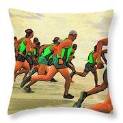 Running Start Throw Pillow