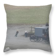 Running To The Buggy Throw Pillow