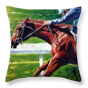 Running Towards The Light Throw Pillow