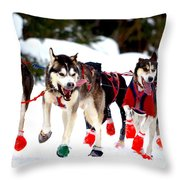 Running Up The Trail Throw Pillow