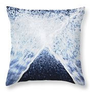Running Water On Black Background Throw Pillow