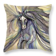 Running With Ginger Throw Pillow