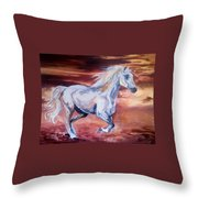 Running With The Wind Throw Pillow