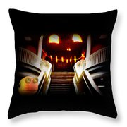Rupert At The Staircase Throw Pillow