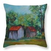 Rural Architecture Throw Pillow