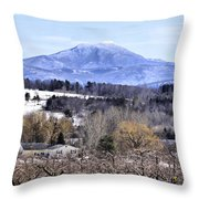 Rural Beauty Vermont Style Throw Pillow