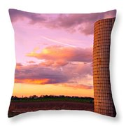 Rural Boulder County Sunset Throw Pillow