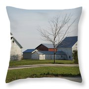 Rural Farm Central Il Throw Pillow