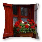 Rural Farm House, Szentbekkala, Hungary Throw Pillow