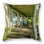 Rural Front Porch Throw Pillow