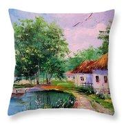 Rural Landscape Throw Pillow