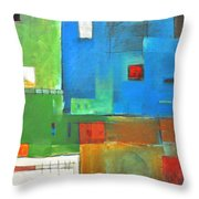 Rural Landscape Rusted Throw Pillow