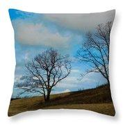 Rural Landscape - Skyline Drive Throw Pillow