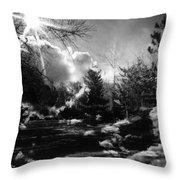Rural Life In Black And White  Throw Pillow