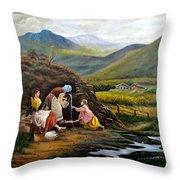 Rural Life Throw Pillow