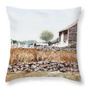 Rural Maine Throw Pillow