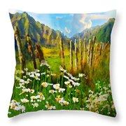 Rural New Zealand Throw Pillow
