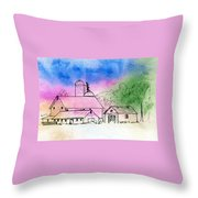 Rural Nostalgia Throw Pillow