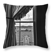 Rural Outhouse Throw Pillow