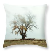 Rural Pasture And Tree Throw Pillow