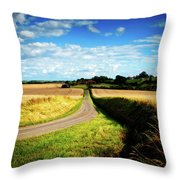 Rural Road In France Throw Pillow