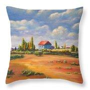 Rural Skies Throw Pillow