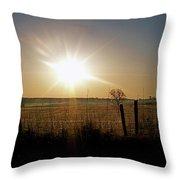Rural Sunrise Throw Pillow