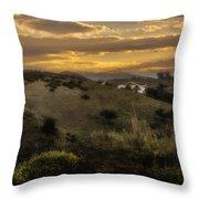 Rural Sunset In Spain Throw Pillow