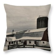 Rural Winter Throw Pillow