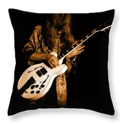 Rush 77 #15 Enhanced In Amber Throw Pillow