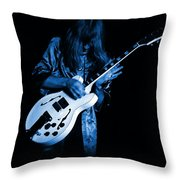 Rush 77 #15 Enhanced In Blue Throw Pillow