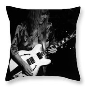 Rush 77 #17 Enhanced Bw Throw Pillow