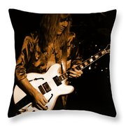 Rush 77 #17 Enhanced In Amber Throw Pillow