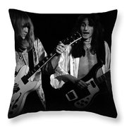 Rush 77 #46 Enhanced Bw Throw Pillow