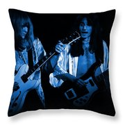 Rush 77 #46 Enhanced In Blue Throw Pillow